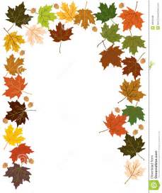 Fall Leaves and Acorns Border