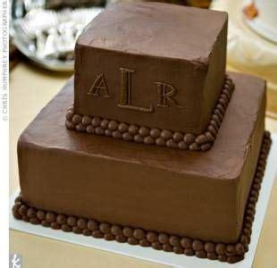 chocolate grooms cake love  simple   monogram chocolate grooms cake simple