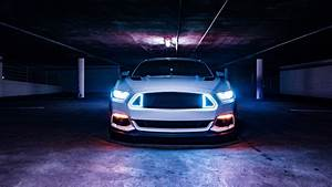 Ford Mustang Neon lights 5K Wallpapers HD Wallpapers