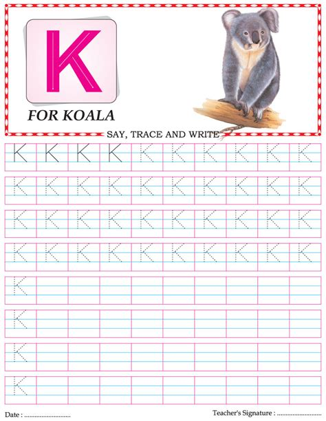 Capital Letter Practice Worksheet