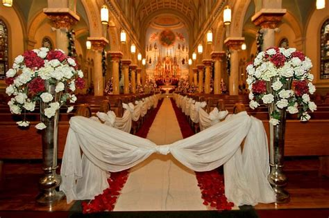 holiday wedding inside a gorgeous old world catholic