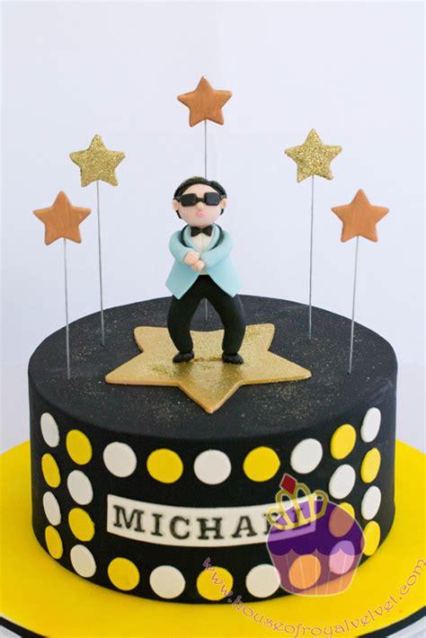 happy birthday oppa gangnam style cakes  cupcakes