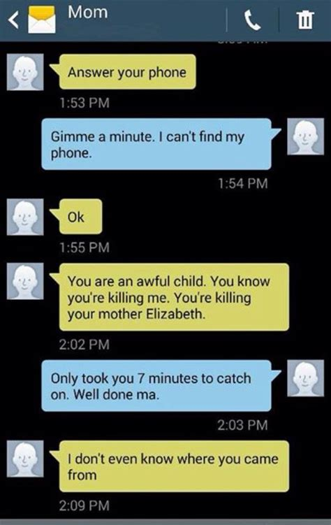 texts  mom  daughter funny texts funny