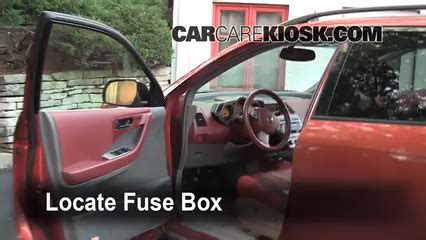 interior fuse box location   nissan murano