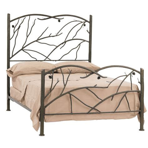 wrought iron rustic pine bed by county ironworks