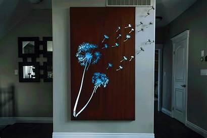 Dandelion Wall Decor Laser Metal Cut Custom