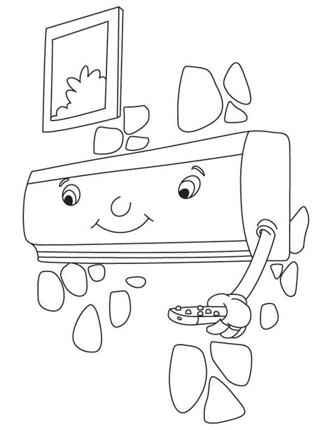 split air conditioner coloring pages kids coloring pages