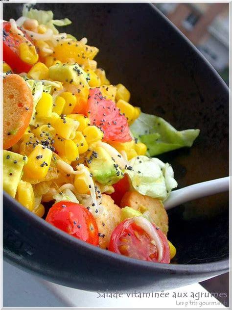 salade vitamin 233 e aux agrumes d 233 jeuner au bureau