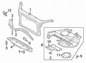 Ford Fusion Radiator Support Splash Shield  Front  Lower