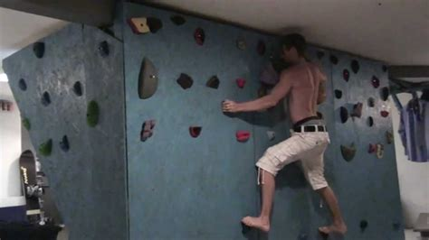how to make a wall at home home basement bouldering rock climbing wall hangboard woodie drcc youtube