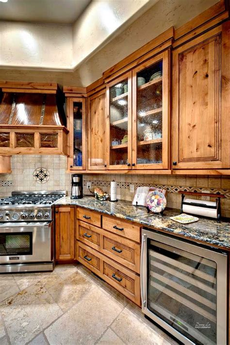 knotty wood kitchen cabinets cherry maple and knotty alder cabinetry in flagstaff 6677