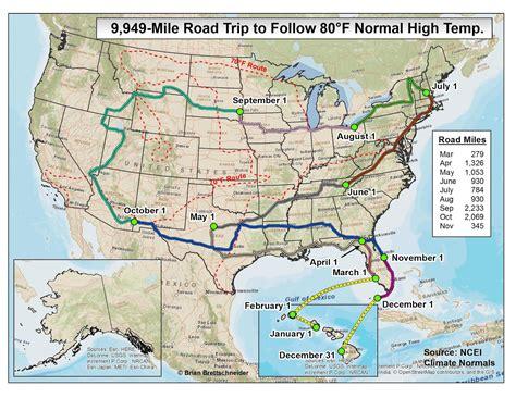 Brian Bs Climate Blog 70°f Road Trip