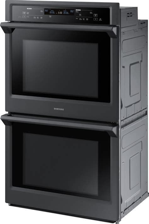 nvkdg samsung  double wall oven dual convection steam bake black stainless steel