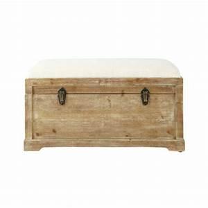 banc large choix de bancs en bois maisons du monde With meuble d entree maison du monde 8 banc avec coffre de rangement en bois de sapin et coton l