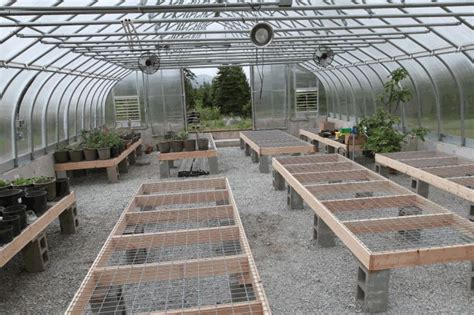 top greenhouse tables   layout
