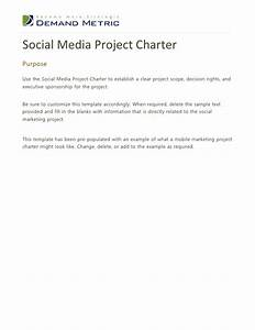 Social Media Project Charter Template
