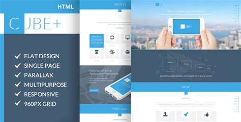 Cube Template Theme Forest by Cube One Page Parallax Html Template By Codepixar