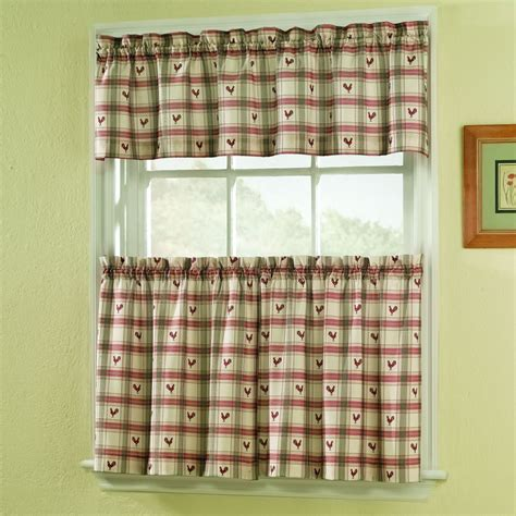 Sears Rooster Kitchen Curtains by Colormate Rooster 56 In X 14 In Valance