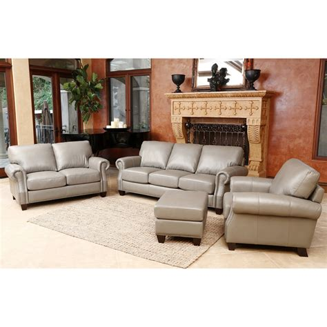 darby home  cairnbrook  piece leather living room set