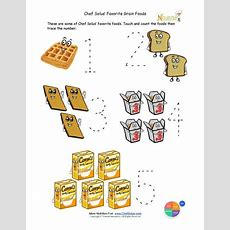 Preschool Writing Activity  Trace The Grains Food Group  School Days  Group Meals, Preschool