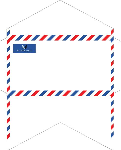 mail envelope template fashioned correspondence airmail envelopes