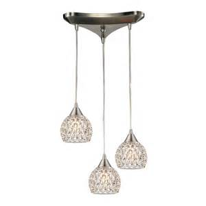 multi light pendant light with clear glass and 3