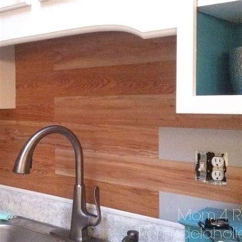 Plank a Kitchen Backsplash Using Peel and Stick Flooring