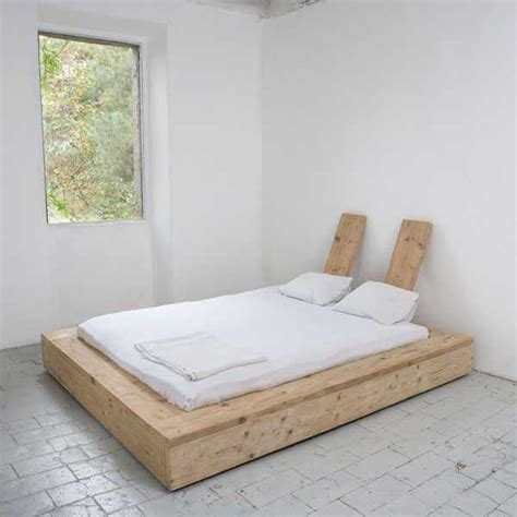 wood slat bed base objects diy bed    bed