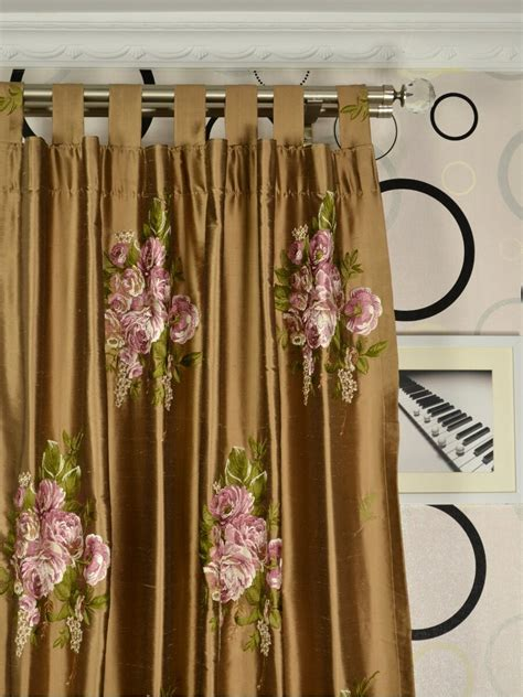 custom made curtains rainbow embroidered camellia dupioni custom made curtains