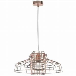 crate pendant 42cm freedom furniture and homewares With copper floor lamp freedom