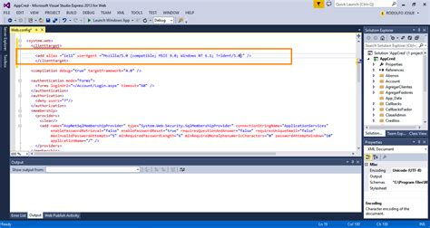 web config alias nt windows user msie arvixe mozilla agent hosting asp client target ie11 useragent trident compatible