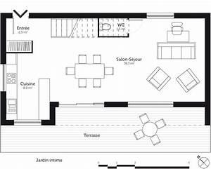 Cuisine Sejour Meme Piece : cuisine sejour meme piece 15 plan maison 224 233tage ~ Zukunftsfamilie.com Idées de Décoration
