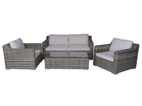 salon de jardin canapé salon de jardin 1 canapé 2 places 2 fauteuils 1 table