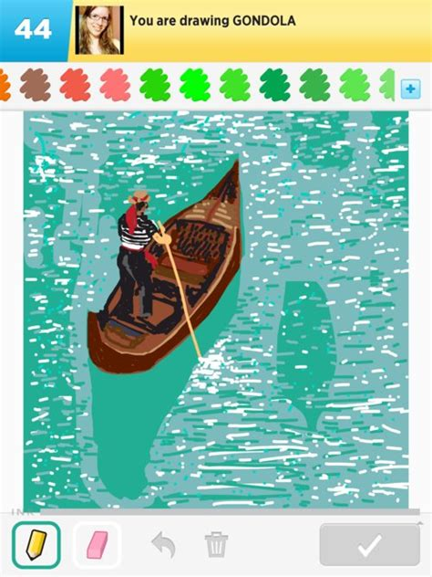How To Draw A Gondola Boat by Gondola Drawing