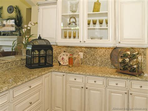 Off White Cabinets With Brown Glaze by Pictures Of Kitchens Traditional Off White Antique