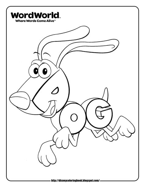 disney coloring pages  sheets  kids wordworld