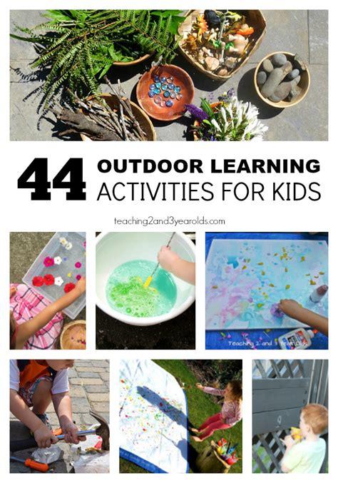 outdoor learning ideas  preschoolers preschool