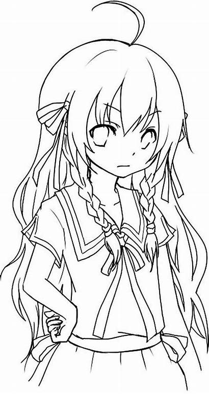 Coloring Anime Pages Chibi Wolf Adorable Getcolorings