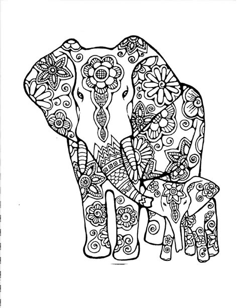 Pin by Tonya Fortson on Great ideas | Elephant coloring page, Adult coloring, Elephant colour