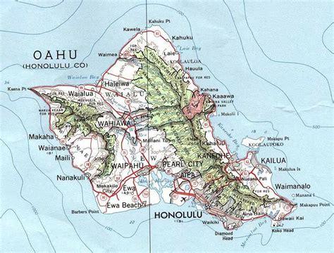 map  oahu hawaii  printable maps