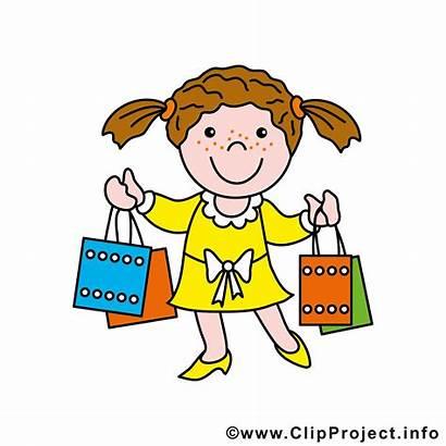 Shopping Clipart Kid Mall Clip Cliparts Fall