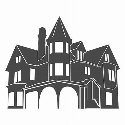 Silueta Silhouette Svg Transparent Casa Mansion Europea