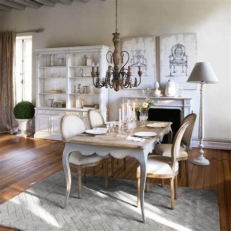 chaise medaillon en lin coloris lin  chene grise louis maisons du monde
