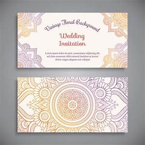 Wedding invitation design vector free download for Wedding invitation design freepik