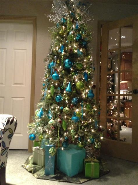 office tree love  turquoise  lime green holiday