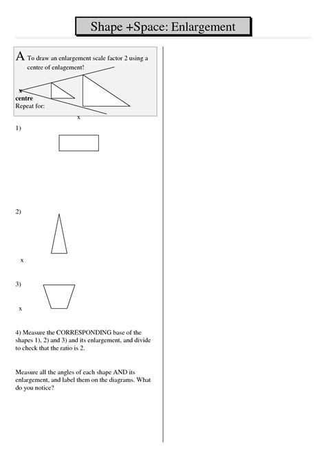 8 Best Images Of Scale Factor Worksheets  Enlargements Scale Factor Worksheets, Emotion