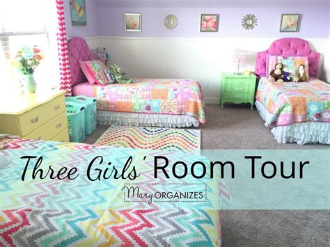 3 Girls' Shared Bedroom {tour!} Creatingmaryshome
