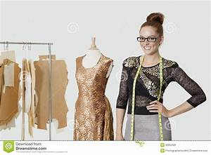 Portrait Of Beautiful Female Fashion Designer Standing ...