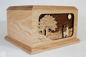 Together Again: Wood Art Companion Urn for Two