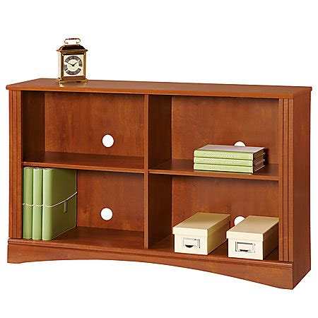 Sofa Bookcase by Realspace Dawson 2 Shelf Sofa Bookcase Brushed Maple By